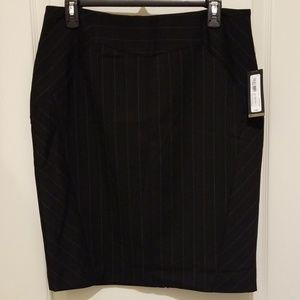 New Black ticking strip pencil skirt, size 10